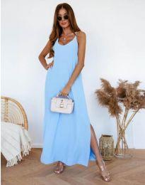Φόρεμα - κώδ. 11881 - γαλάζιο