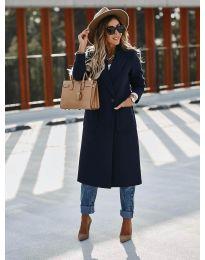 Παλτό - κώδ. 9493 - σκούρο μπλε