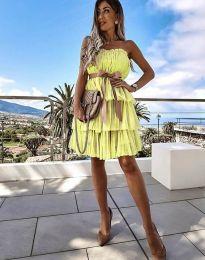 Φόρεμα - κώδ. 3065 - κίτρινο