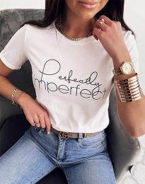 Κοντομάνικο μπλουζάκι - κώδ. 1222 - λευκό