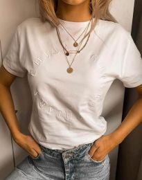Дамска тениска в бяло - код 4496
