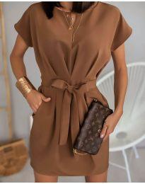 Φόρεμα - κώδ. 772 - καφέ