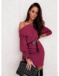 Φόρεμα - κώδ. 4442 - μπορντό