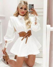Φόρεμα - κώδ. 44589 - 2 - λευκό