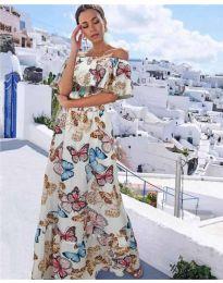 Φόρεμα - κώδ. 8582 - λευκό