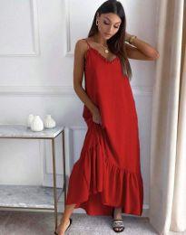 Φόρεμα - κώδ. 4671 - κόκκινο