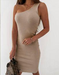 Φόρεμα - κώδ. 11699 - μπεζ