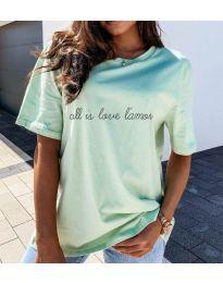 Κοντομάνικο μπλουζάκι - κώδ. 36755 - μέντα