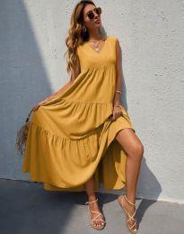 Φόρεμα - κώδ. 8149 - μουσταρδί