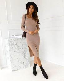 Φόρεμα - κώδ. 9782 - καπουτσίνο