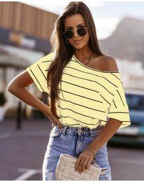 Κοντομάνικο μπλουζάκι - κώδ. 5865 - κίτρινο
