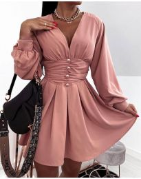 Φόρεμα - κώδ. 4343 - πούδρα