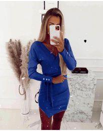 Φόρεμα - κώδ. 2077 - σκούρο μπλε