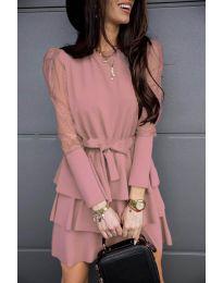 Φόρεμα - κώδ. 8384 - ροζ