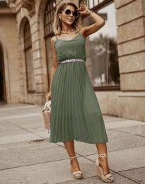 Φόρεμα - κώδ. 1249 - λαδί