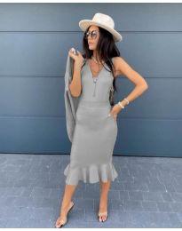 Φόρεμα - κώδ. 1030 - γκρι