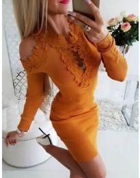 Φόρεμα - κώδ. 568 - mουσταρδί