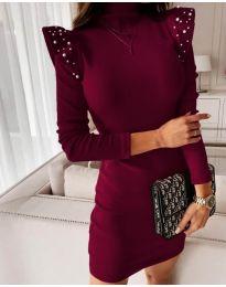Φόρεμα - κώδ. 9494 - μπορντό
