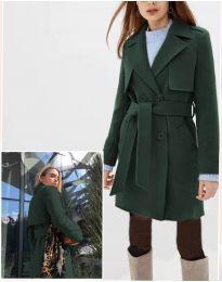 Παλτό - κώδ. 3113 - σκούρο πράσινο