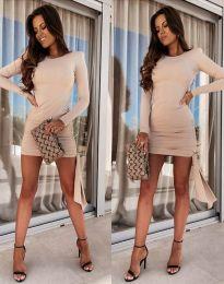 Φόρεμα - κώδ. 11592 - μπεζ