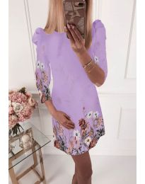 Φόρεμα - κώδ. 240 - ανοιχτό μωβ
