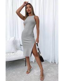 Φόρεμα - κώδ. 11939 - σκούρο γκρι