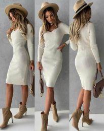 Φόρεμα - κώδ. 4845 - λευκό