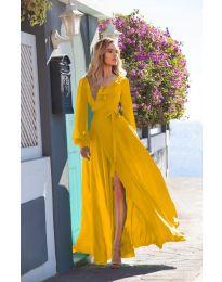 Φόρεμα - κώδ. 8477 - μουσταρδί