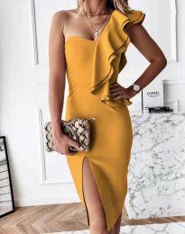 Φόρεμα - κώδ. 6584 - μουσταρδί