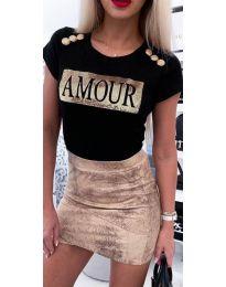 Κοντομάνικο μπλουζάκι - κώδ. 3680 - μαύρο