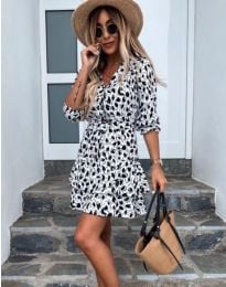 Φόρεμα - κώδ. 2216 - 3 - λευκό