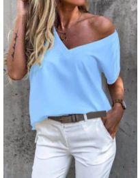 Κοντομάνικο μπλουζάκι - κώδ. 0589 - γαλάζιο