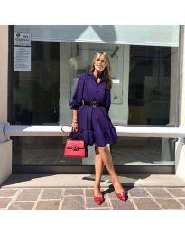 Φόρεμα - κώδ. 960 - σκούρο μωβ