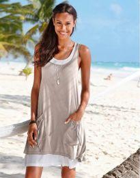 Φόρεμα - κώδ. 9076 - 4 -  σαμπανιζέ