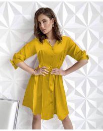 Φόρεμα - κώδ. 9028 - μουσταρδί