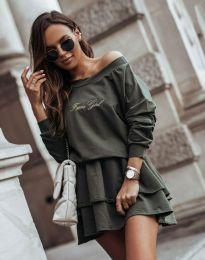 Φόρεμα - κώδ. 12051 - λαδί