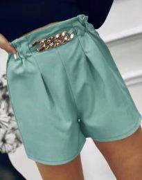 Атрактивни къси панталони в цвят мента - код 2085