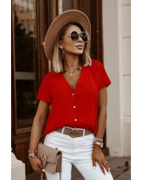 Κοντομάνικο μπλουζάκι - κώδ. 0606 - κόκκινο