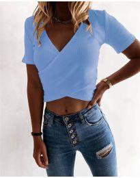 Κοντομάνικο μπλουζάκι - κώδ. 1102 - γαλάζιο