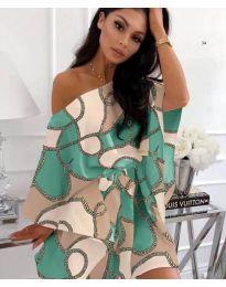 Φόρεμα - κώδ. 807 - 1 - τυρκουάζ