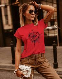 Κοντομάνικο μπλουζάκι - κώδ. 3245 - κόκκινο