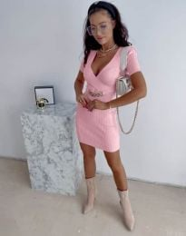 Φόρεμα - κώδ. 4305 - ροζ