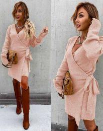 Φόρεμα - κώδ. 9846 - ανοιχτό ροζ