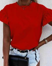 Κοντομάνικο μπλουζάκι - κώδ. 4352 - κόκκινο