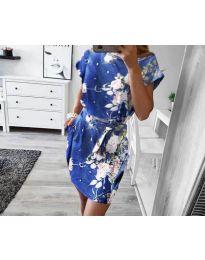 Φόρεμα - κώδ. 1011 - γαλάζιο