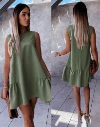 Φόρεμα - κώδ. 3456 - λαδί
