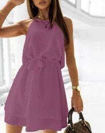Φόρεμα - κώδ. 9968 - σκούρο μωβ