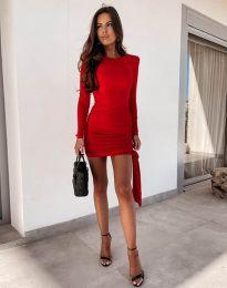 Φόρεμα - κώδ. 11592 - κόκκινο