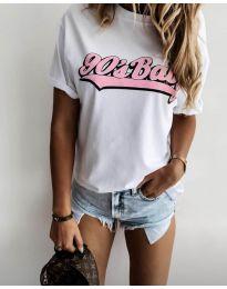 Κοντομάνικο μπλουζάκι - κώδ. 6267 - 1 - λευκό