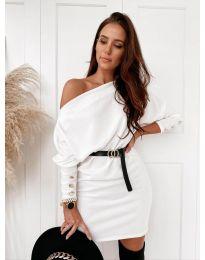 Φόρεμα - κώδ. 4442 - λευκό